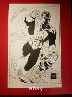 Green Lantern original art penciled/inked by Ethan Van Sciver for Cape Con 2010