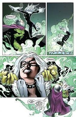 Greg Land, Peter David Signed 2019 Black Cat Vs. Mysterio Original Art