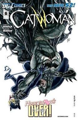 Guillem March Signed 2012 Catwoman Vs. Reach Original Art