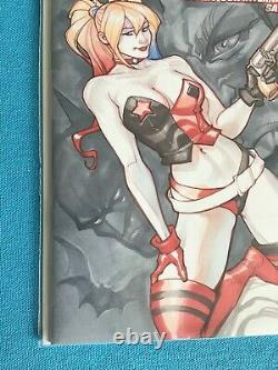 HARLEY QUINN ORIGINAL COMIC SKETCH COVER CHAD HARDIN ORIGINAL ART Joker Batman
