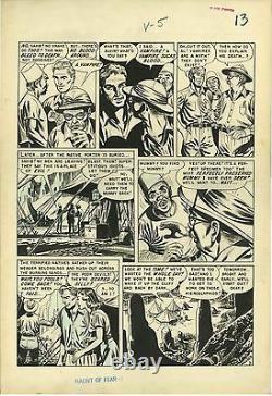 Haunt of Fear #8 (1951) EC GEORGE ROUSSOS Original art pg 5 Mummies & Vampires