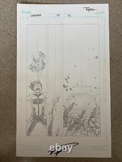INVINCIBLE Original Page Art Pencils SIGNED By Ryan Ottley And Robert Kirkman