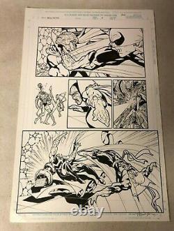 IRON FIST original art DEMONICUS Heroes Hire BART SEARS WHITE TIGER decapitates
