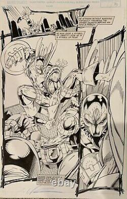 Image Valiant Comics Deathmate Red Pg 14 Original Rob Liefeld Comic Art Page