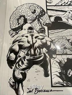 Incredible HULK #9 Original Art Page vs. THING Ron Garney Sal Buscema signed