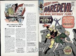 Jack Kirby Art 1964 Daredevil #4 Original Production Cover Proof Marvel Comics