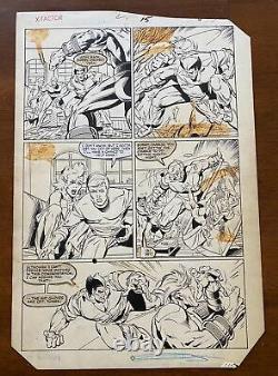 Jackson Guice Joe Rubenstein X-Factor #2 Original Art Beast of X-men Battle Page