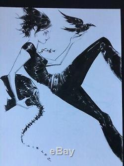 Jae Lee Death From Sandman Original Art Sketch Commission 9x12