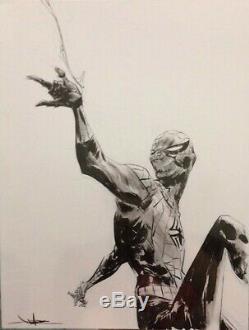Jae Lee Spider-Man ORIGINAL ART ORIGINALZEICHNUNG 9x12 signed