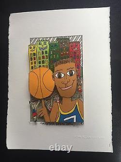 James Rizzi original 3D, MR BASKETBALL, FUNNY FACES, handsigniert VERGRIFFEN