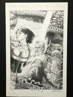 Jay Anacleto Blood Queen #4 ORIGINAL ART COVER Dynamite Comic 2014