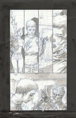 Jim Lee Batman Europa #1 Page 29 Original Art Batman Intense Joker Image Pg