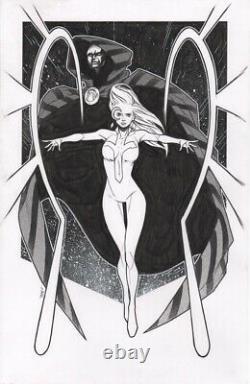 Jim Towe Cloak & Dagger Original Comic Book Art Pinup 11x17 Marvel Comics