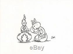 Jim Woodring 9 x 12 ORIGINAL ART FRANK Sketch RARE SIGNED Underground Comic