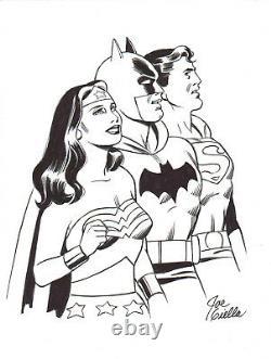 Joe Giella Signed Superman, Batman, Wonder Woman Original Art-free Shipping