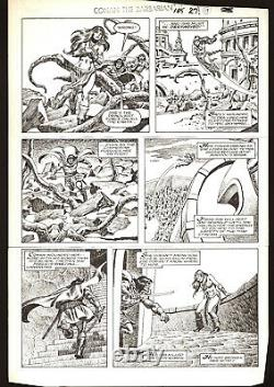 John Buscema Conan The Barbarian #185 page 27 Original Art Marvel Comics