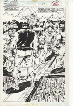 John Buscema original art pencils and inks THE PUNISHER! SIGNED