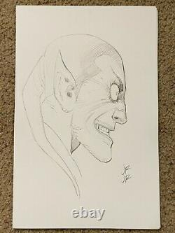 John Romita Jr. Original Art Sketch Green Goblin signed 11 x17