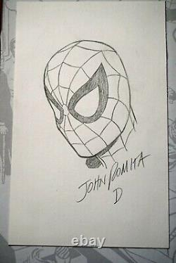 John Romita Sr. Spider-Man Original Art Sketch Signed and Lettered Super Rare