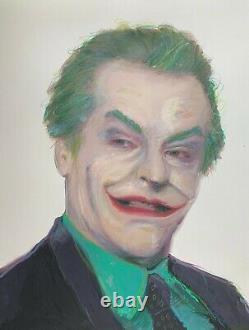 Joker Jack Nicholson Batman 89' Portrait Original Comic Art Painting realistic