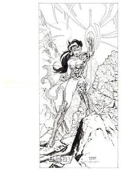 Just Imagine Stan Lee With Jim Lee Creating Wonder Woman DC ORIGINAL ART
