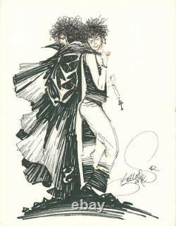 KELLEY JONES Sandman & Death ORIGINAL COMIC ART 1992 Commission