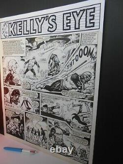 Kelly's Eye! 1973, original art, large page, 16 x 20 ins, Planet of Apes, López