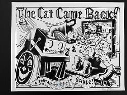 Kim Deitch Original Color Underground Comic Art. The Cat Came Back Waldo. Signed