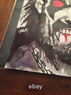 LOBO #1 COVER ORIGINAL ART SKETCH AND WATER PAINTED BY SIMON BISLEY w COA