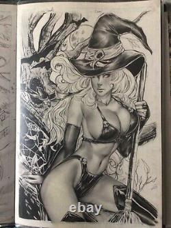 Lady death original art Judgement Wars Pagan Edition Nei Ruffino Cover Comicbook
