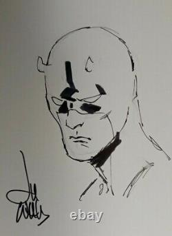 Lee Weeks Daredevil original art. Convention sketch. Signed hand drawing