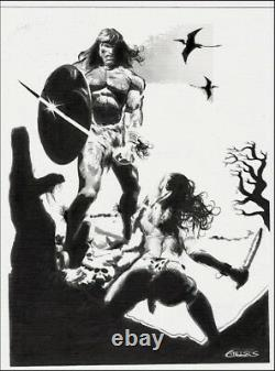 MARVEL Comics CONAN vs RED SONJA Original Art DESTROYER BARBARIAN DEATH WARRIOR