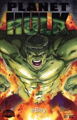 MARVEL Comics PLANET HULK #1 CGC SS 9.8 Original Art Sketch Hughes AVENGERS THOR
