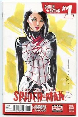 MARVEL Comics SPIDER-MAN #1 Original Art Blank Sketch SILK GWEN MARY JANE VENOM