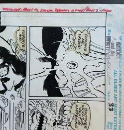 MARVEL ORIGINAL ART Comic Book Page Warlock & Infinity Watch Olliffe Almond