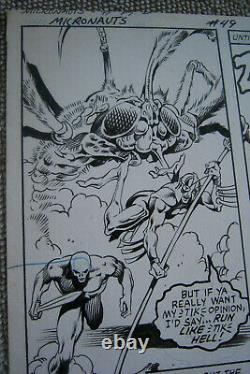 MICRONAUTS BUTCH GUICE ORIGINAL ARTWORK Marvel Comics 49 page 26 Lobros Bug Rann