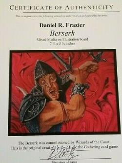 MTG Alpha Berserk original painting art by Dan Frazier for Magic The Gathering