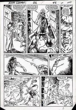 Marc Silvestri 1984 Conan The King #22 Original Art Page Marvel Comic Artwork