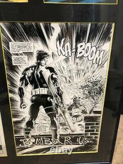 Marvel Comics Punisher Summer Special #1 Original Comic Art Framed