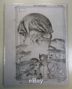 Marvel SECRET INVASION #1 Steve McNIVEN ORIGINAL ART Sketch CAPTAIN MARVEL Movie