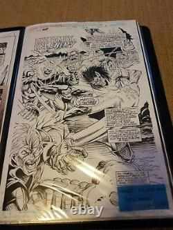 Marvel comic presents. Title page. Original comic art