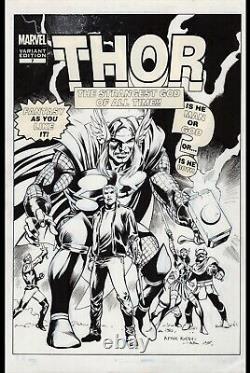 Mighty Thor #7 Original Cover Art by Alan Davis and Mark Farmer Marvel 2011