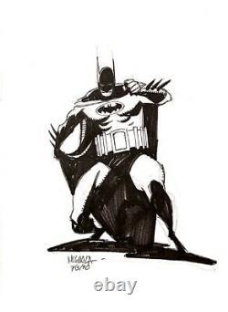 Mike Mignola DC Comics Batman 8x10 Original Art Drawing