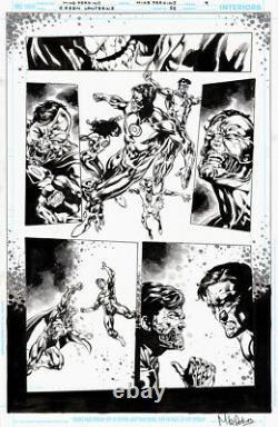 Mike Perkins Signed 2016 Green Lantern Vs. Cyborg Superman Original Art