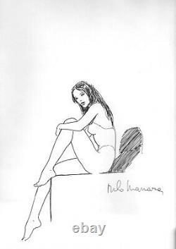 Milo MANARA dessin original signé Le Piège édition originale