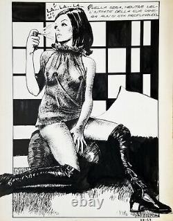 Milo Manara Genius #22 Splash Page Original Comic Art / 1970