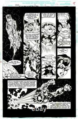 Nova #16 Original Art Comic page 11- Wolverine Wonder Woman Spider-Man Marrinan
