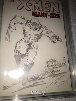 ORIGINAL ART BY HERB TRIMPE HULK 181 Pin Up 1st Appearance Wolverine 9.6 CBCS SS