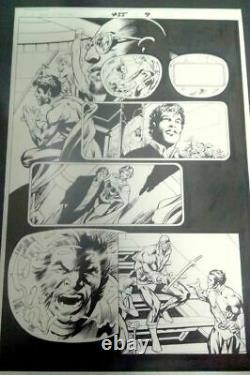 ORIGINAL ART COMIC X-MEN 455. Pag. 9. ALAN DAVIS / CHRIS CLAREMONT