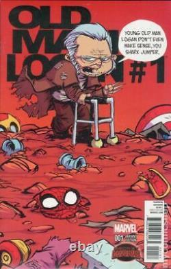 Old Man Logan #1 (2015) variant comic book cover Original Art by Skottie Young